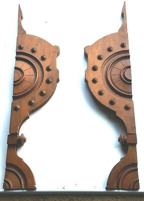 Two Large Architectural  Antique Corbels Accent Pieces