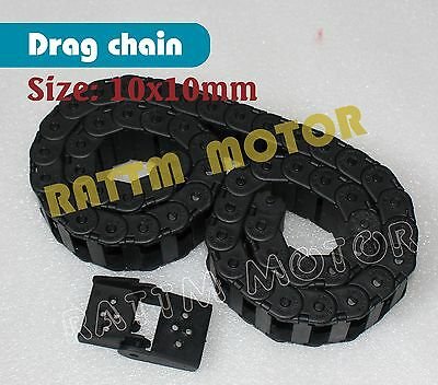 2m long 10x10mm Cable Drag Chain Radius Wire Carrier lastic Towline Kit