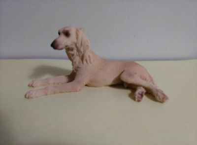 "Saluki Dog Figurine, 3"" to 4"", New Hand Painted"