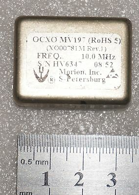 Used MORION MV197 10Mhz OCXO OSCILLATOR,SQUARE WAVE SC-CUT +12V Freeshipping