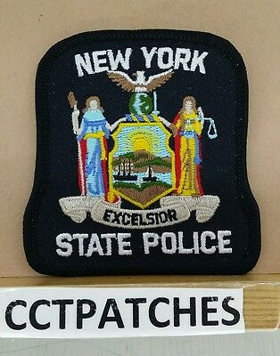 """New York State Police (Small) Shoulder 3"""" X 3 1/8"""" Patch Ny"""