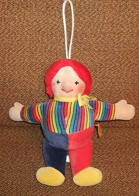 RARE Steiff Musical Toy Clown w Button Germany