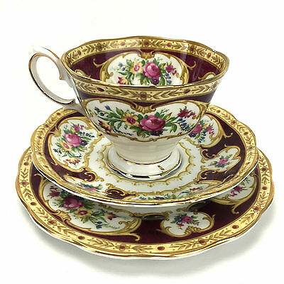 Royal Albert Lady Hamilton Tea Cup , Saucer & Plate Made In England