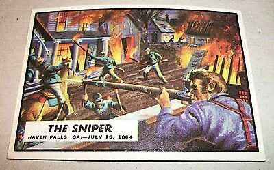 1962 Topps Civil War News card #70 THE SNIPER EX NM vintage non sport