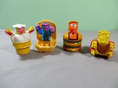 Vintage Mcdonalds Lot Of 4 Changeables To Dinosaurs Transformers