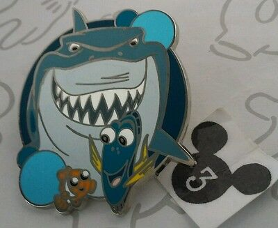 Finding Nemo Submarine Voyage Bruce Dory Disney Park Attractions Mystery Pin