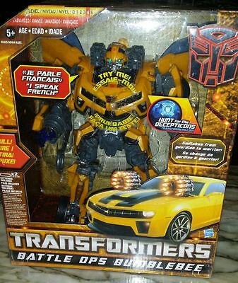 Transformers Movie Battle Ops Bumblebee French Version New, Hasbro Nuevo