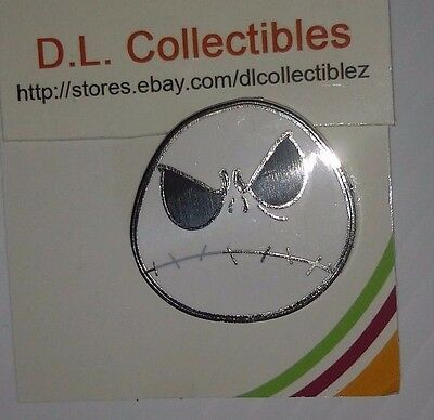 Disney Nightmare Before Christmas Frowning Angry Scowl Face Jack Skellington Pin