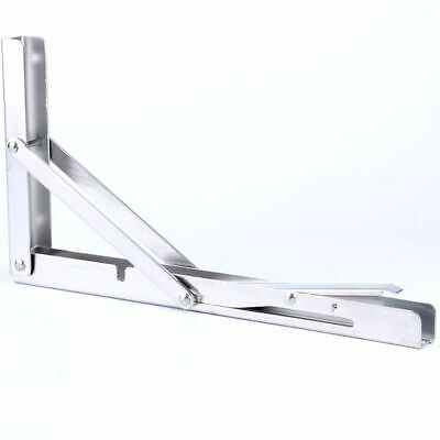 Polished Stainless Steel Folding Bracket for Bench Table 330lbs-Long Release Arm