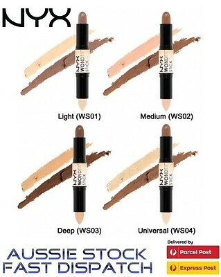 Nyx Wonder Stick Dual Ended Highlighting And Contour #ws Concealer Bronzer New