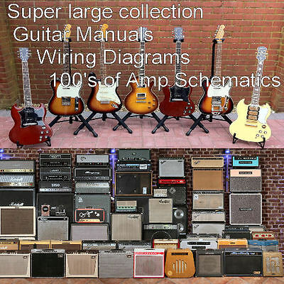 Guitar Collections of Guitar Manuals + Amplifier Manuals Custom PDF CD  **Nice**