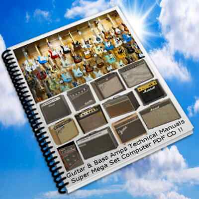 "Guitar Collections of Guitar Manuals And Amplifier Manuals Custom ""PDF CD"""
