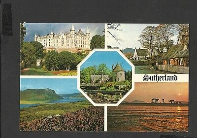 Vintage Multi View Colour Postcard  Sutherland The Scottish Highlands posted