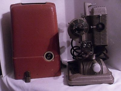 Vintage 1940s Revere Model 85 8mm Film Projector and Case - Tested WORKS No Bulb
