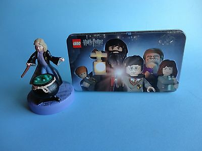 Lego Harry Potter Metal Carry Collectable Tin + Hermione Look-a-Like Figurine