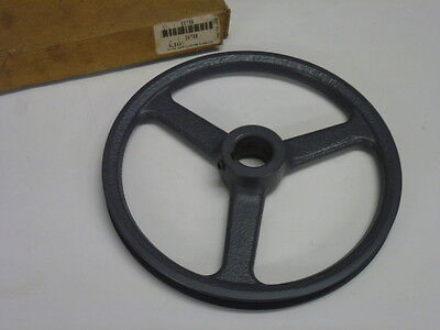 """New! Cast Iron Spoked V-Belt Pulley, 7.93"""" Diameter, 1"""" Bore, 3X798"""