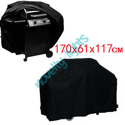 Large 4 Burner BBQ Cover Rain Protector Barbecue Grill Waterproof Outdoor 170cm
