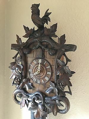 Antique Black Forest Cuckoo clock W/ Rooster