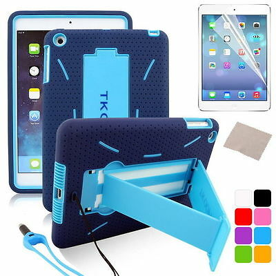 Shockproof Case Hybrid Heavy Duty Cover Stand for ipad mini 2/with Retina + Pen