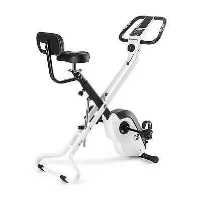 White Gym Bike Bicycle Home Gym Work Out Equipment Pedal Folding Fat Burn Fit