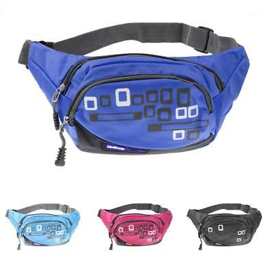 Outdoor Sport Nylon Fanny Pack Waist Bum Hip Bag Running Hiking Belt Phone Pouch