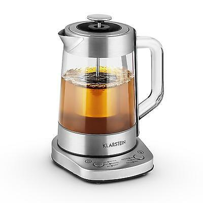 Electric Tea Maker Kettle 1.5 Litre 1500W Time Saving Keep Warm Function Glass