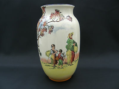 BEAUTIFUL  ROYAL DOULTON THE GLEANERS VASE 1930,s ~ ENGLISH OLD SCENES D6123