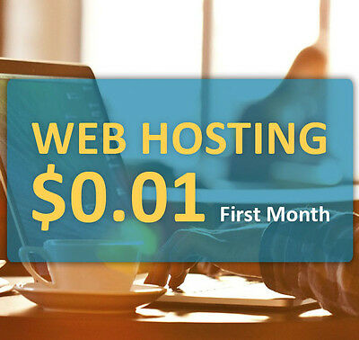 $0.01 One Month of cPanel Web Hosting - Unlimited Websites, Storage, Bandwidth