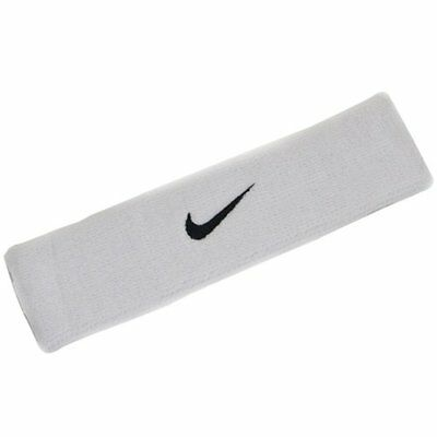NIKE Swoosh Headband / One Size , White x Black Swoosh