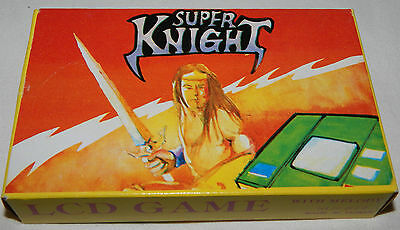 *vintage Super Knight Electronic Lcd Handheld Game & Watch In Box/boxed/sunwing*