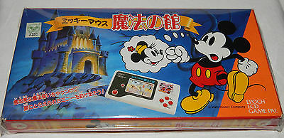 Vintage Mickey Mouse Haunted Castle Handheld Game Epoch/disney In Box/boxed/nos
