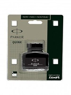 Parker Quink Ink Bottle in Black colour for Fountain Pen 30ml Free Shipping