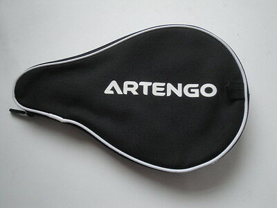 Artengo Black/Grey Table Tennis Bat Case with zipped Ball Copartment