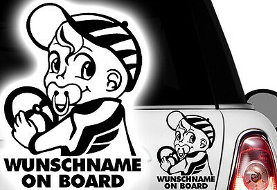 Wunschname An Bord! Baby On Board Personalised Auto Vinyl Stickers Car Tunning