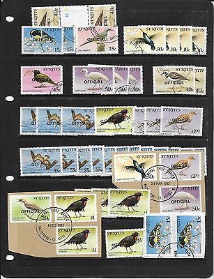 ST KITTS 1980 Birds Definitives: Oddments, USED