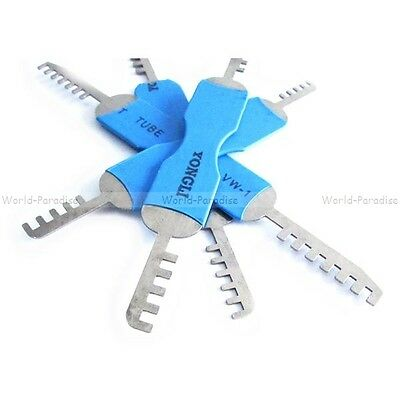lockpicking tension tools comb pick set unlocking opener locksmith - crochetage
