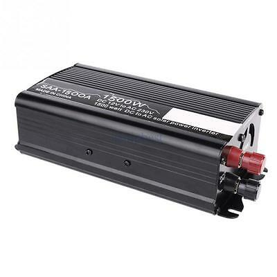 Car Power Inverter 1500W 12V DC to 220V AC Converter USB Battery Charger EU MK
