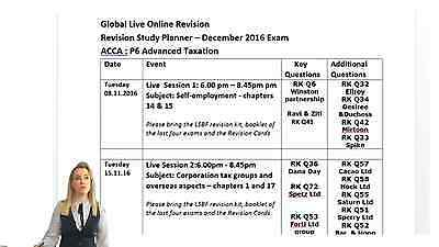 LSBF: ACCA P6 March 2017 Live Sessions + Revisions + Studio Recorded + Exam KIT