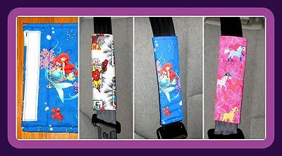 Pair of Seat Belt Padded Wraps for Comfort - Other Fabrics are Available