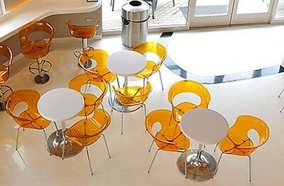 Restaurant Translucent Amber 4 Chairs/Table (Swivel Stools Available) European