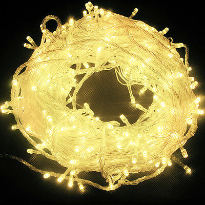 Electric 20M 200 LED Christmas Lights String Fairy Lights Party Garden Decor New