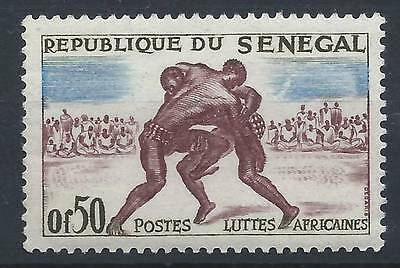 SENEGAL 1961 SG240 brown blue and sepia Wrestlers Sport Mint MNH