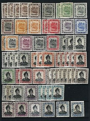 BRUNEI, 2 STOCK PAGE SIDES MH and USED