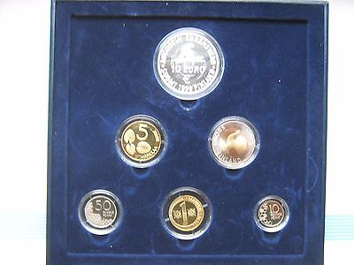 Finland 1998 Official Coin Mint Set KMS Silver 10 Euro Proof Condition !!!