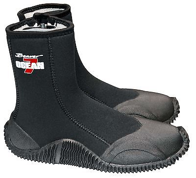 Beaver Sports OCEAN 6.5mm Diving Water Sports Boots with Hard Sole and Ankle Zip
