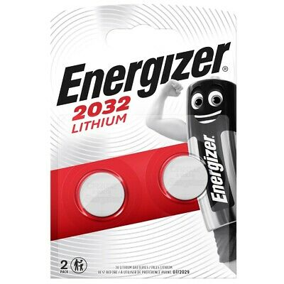 2 x Energizer CR2032 3V Lithium Coin Cell Battery SB-T15 Expiry 2024