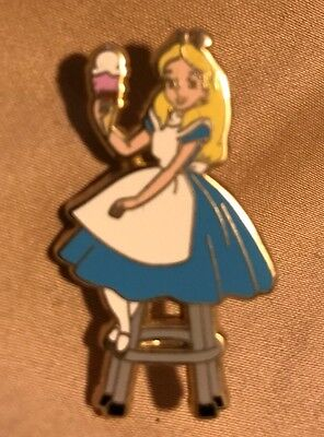 Disney Pin Trader Delight DSF Alice Wonderland Alice On Stool Pin PTD LE 300