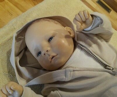"OOAK Els Oostema ""Tonio"" Polymer Clay Baby 22 inches"