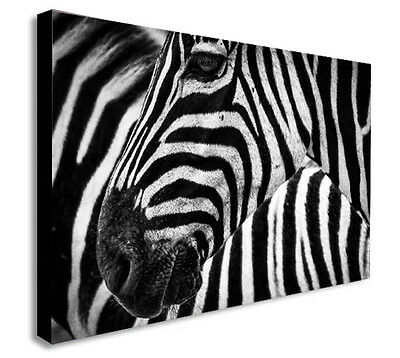 ZEBRA BLACK AND WHITE ABSTRACT Canvas Wall Art Print. Various Sizes