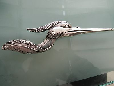 Antique Solid Silver Japanese Stork Paper Clip 1900